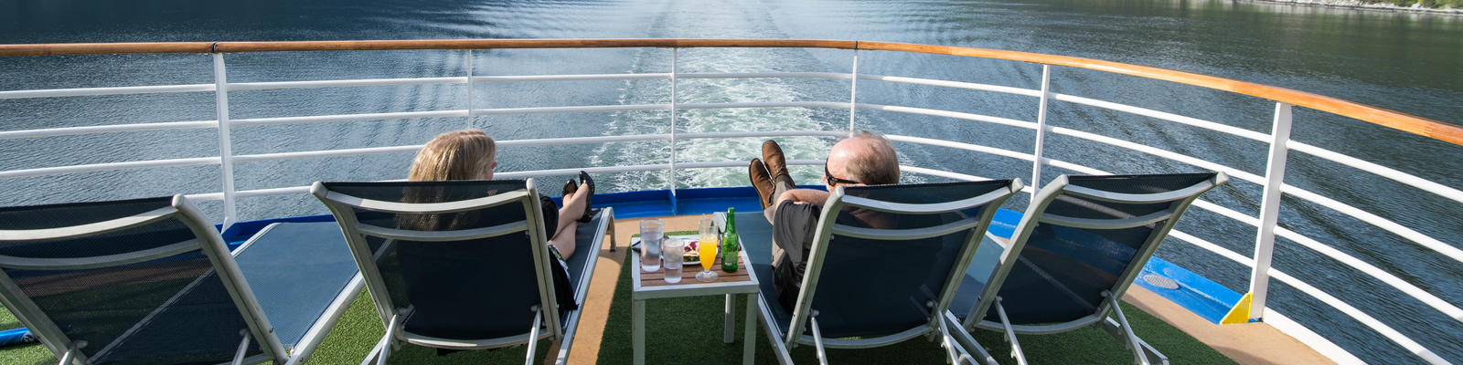 Relaxing on the Terrace Pool Deck on Ruby Princess (Photo: Cruise Critic)