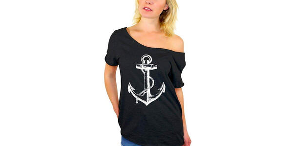 Women's Off-the-Shoulder Anchor T-Shirt (Photo: Amazon)
