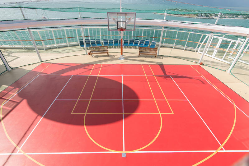 Sports Court on Brilliance of the Seas