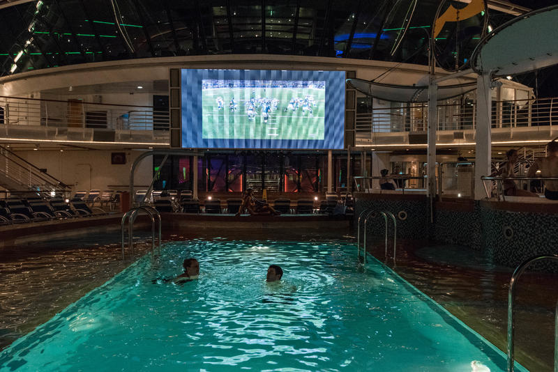 Outdoor Movie Screen on Brilliance of the Seas