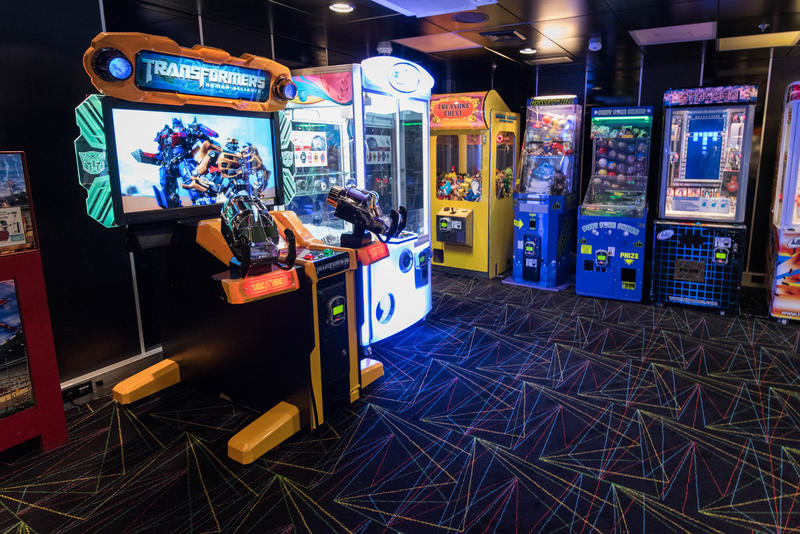 Challengers Video Arcade on Brilliance of the Seas