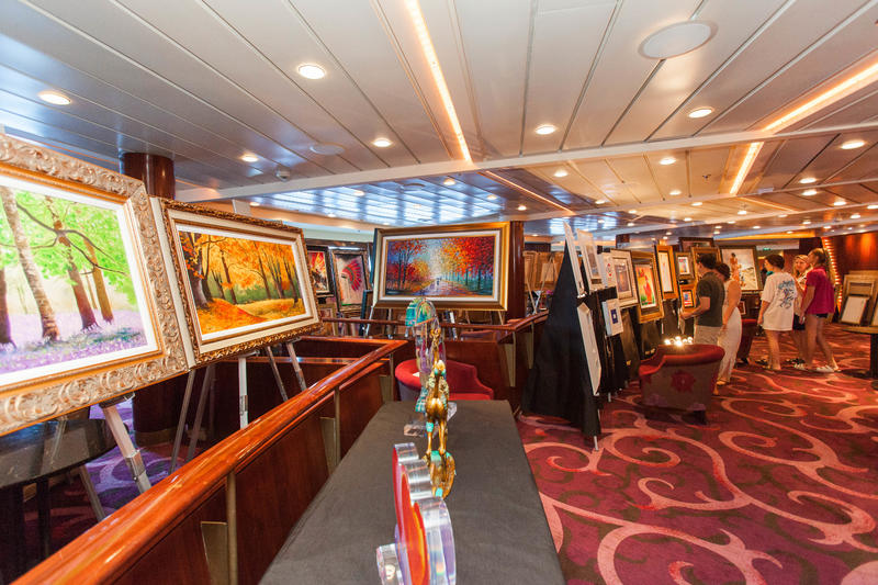 Art Auction on Celebrity Constellation