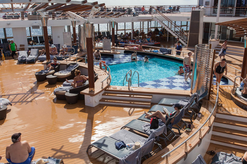 The Main Pool and Hot Tubs on Celebrity Constellation
