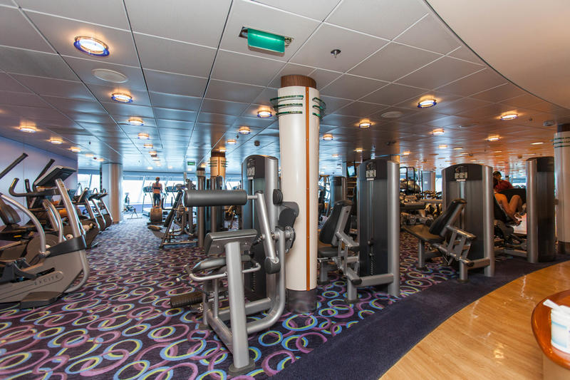 Fitness Center on Celebrity Constellation