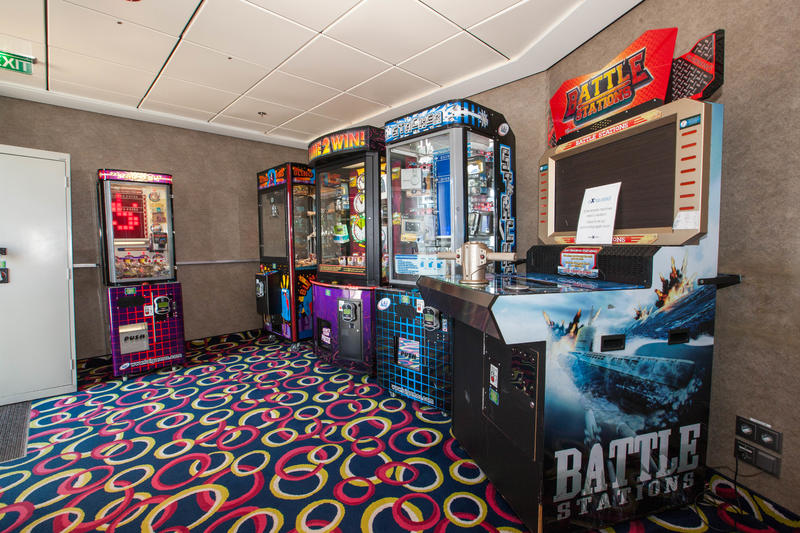 Video Arcade on Celebrity Equinox
