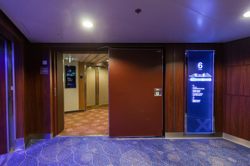 Hallways on Celebrity Equinox
