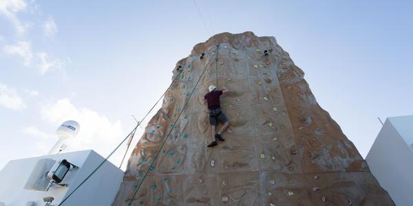 Rock Climbing Wall on Norwegian Gem (Photo: Cruise Critic)