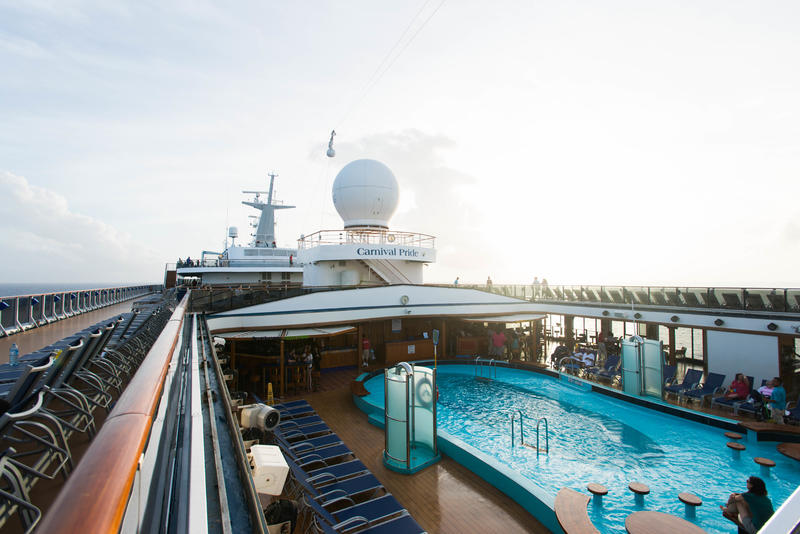The Venus Pool on Carnival Pride