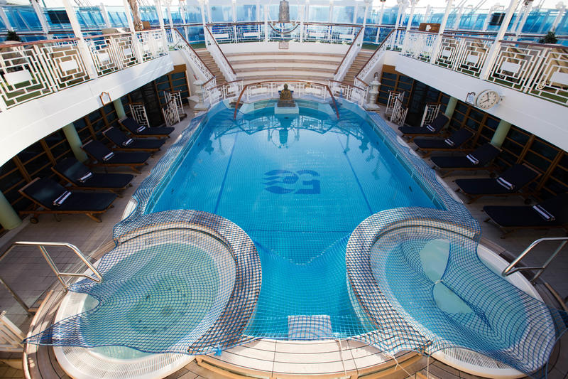 The Neptune Pool on Crown Princess