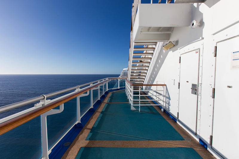 The Sun Deck on Crown Princess