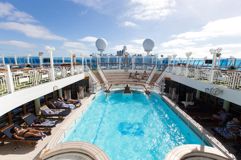 The Spa Pool on Crown Princess