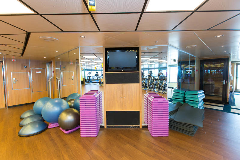 Fitness Center on Crown Princess