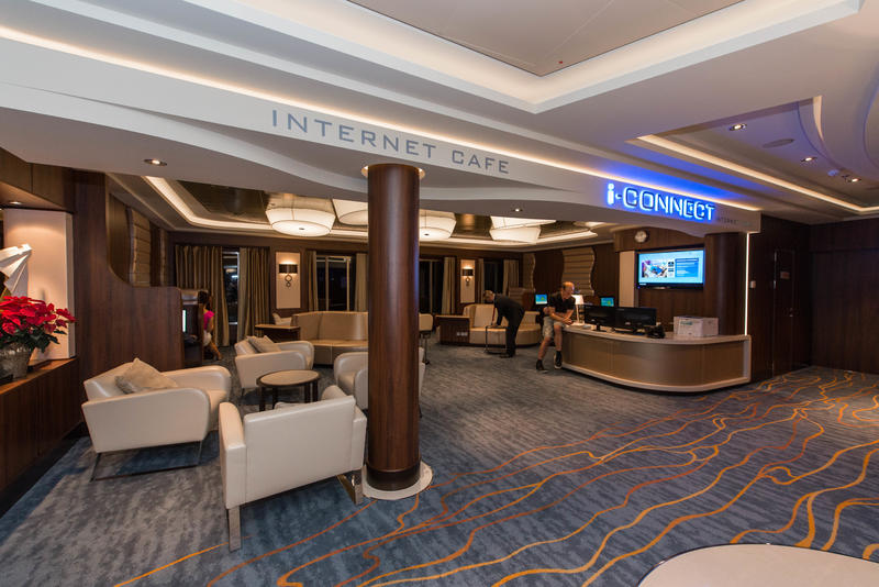Internet Cafe on Norwegian Escape