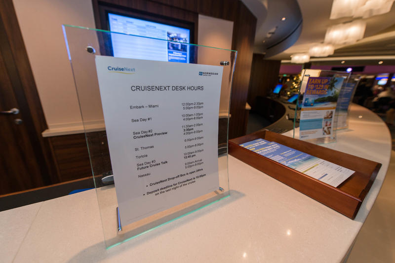Shore Excursions Desk on Norwegian Escape