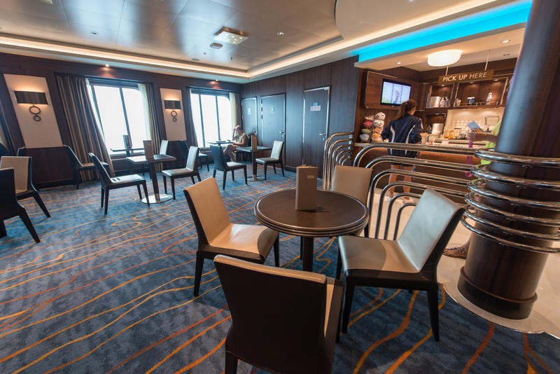 Atrium Cafe on Norwegian Escape