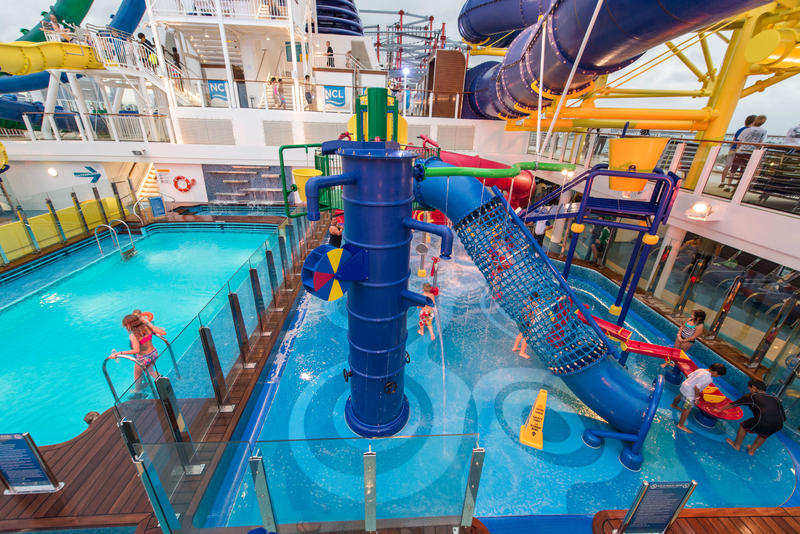 The Kids' Aqua Park on Norwegian Escape