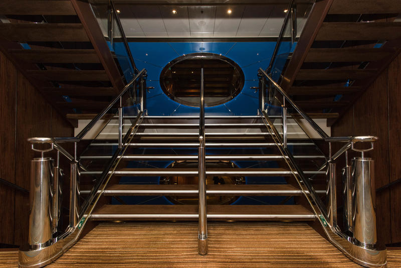 Stairs on Norwegian Epic