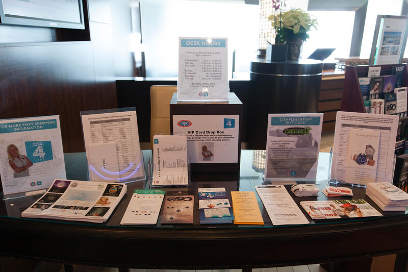 Shore Excursions Desk on Celebrity Silhouette