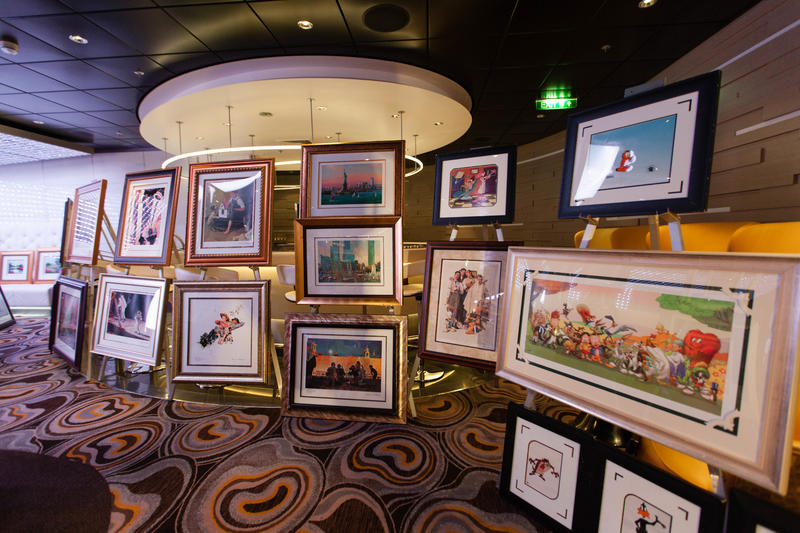 Art Auction on Celebrity Silhouette
