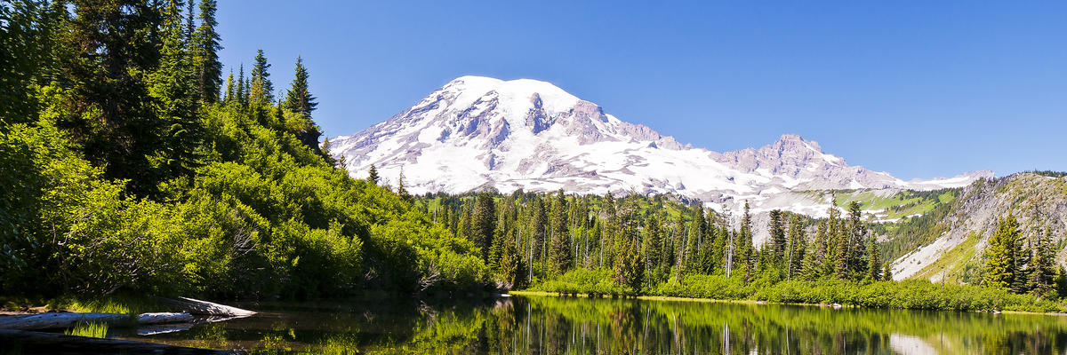 Mt. Rainier reflection from Bench Lake (Photo: tusharkoley/Shutterstock.com)