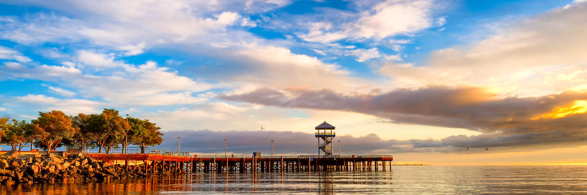 Port Angeles Harbor at sunrise in Washington State (Photo: Dee Browning/Shutterstock.com)