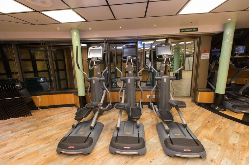 Fitness Center on Caribbean Princess