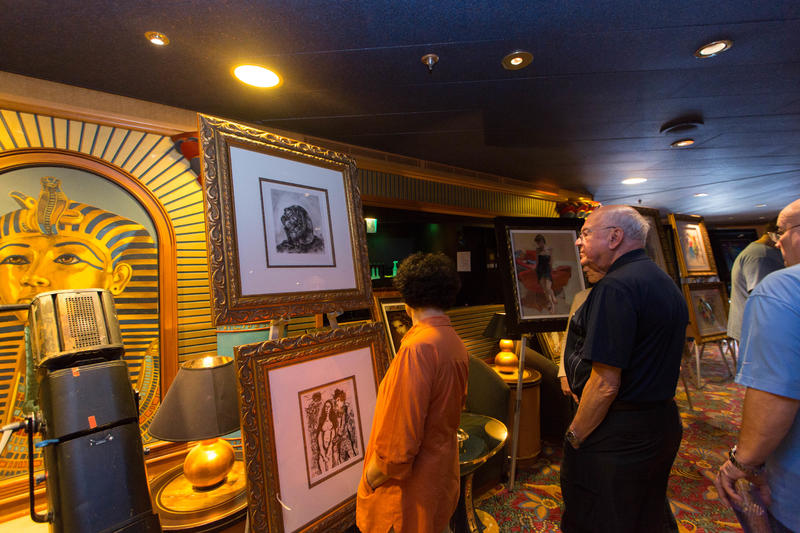 Art Auction on Caribbean Princess