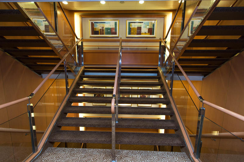 Stairs on Caribbean Princess