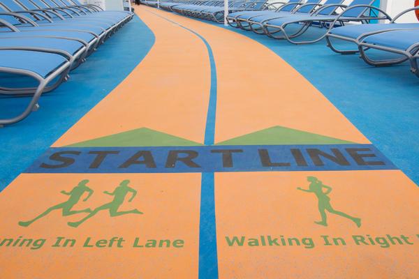 Running track on Anthem of the Seas (Photo: Royal Caribbean International)