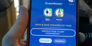 One of the Ocean Medallion phone apps (Photo: Dori Saltzman/Cruise Critic)