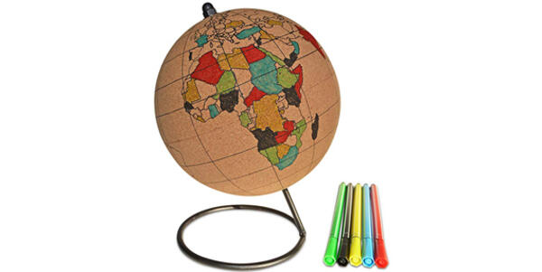 Color-In Cork Globe With Markers (Photo: Amazon)