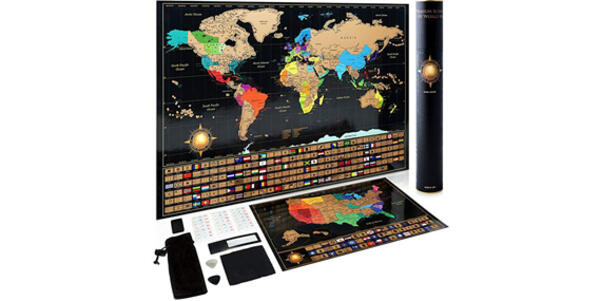 Scratch-Off Travel Map Poster Set (Photo: Amazon)