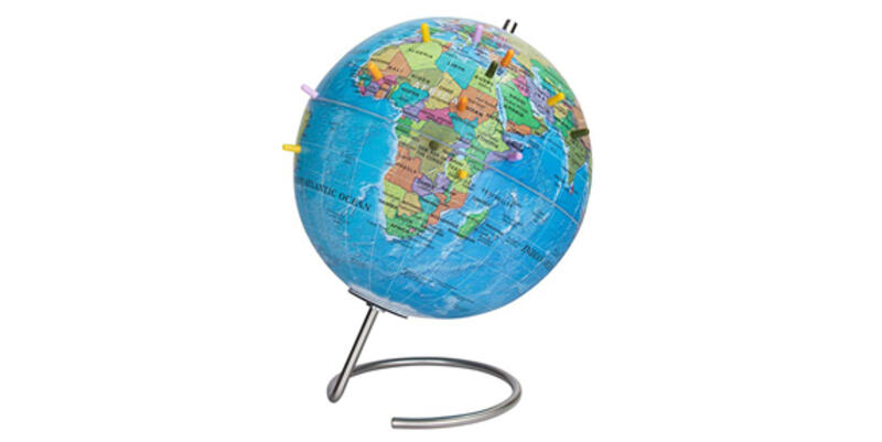 World Globe With Magnetic Pins (Photo: Amazon)