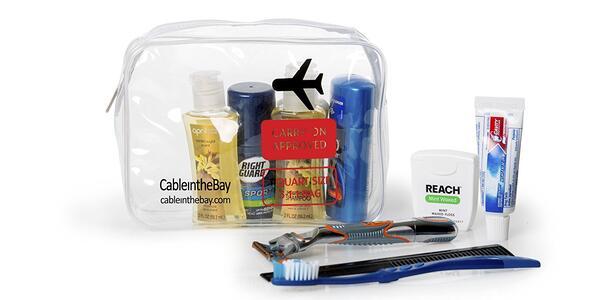 TSA Approved Clear Travel Toiletry Bag (Photo: Amazon)