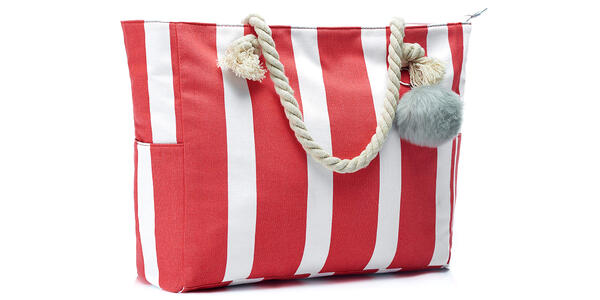 Beach Tote with Cotton Rope Handles and Cute Pompom (Photo: Amazon)