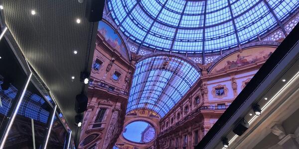 80m LED screen on MSC Bellissima