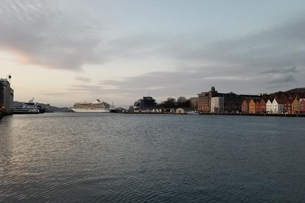 Viking Sky in Bergen, Norway (Photo: Colleen McDaniel)