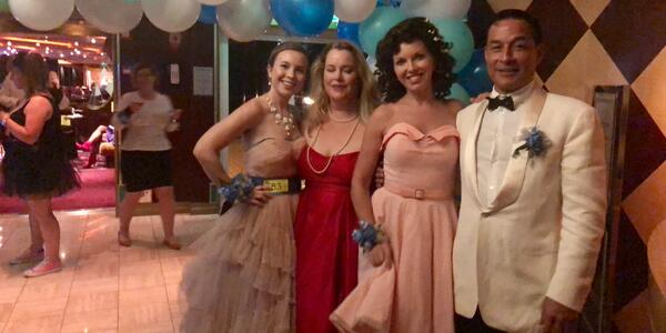 Cruisers dressed for the 80's Cruise Prom (Photo: Chris Gray Faust) (Photo: Chris Gray Faust)