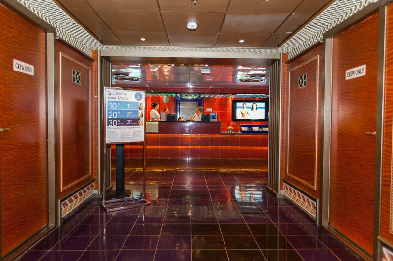 Reception Area on Carnival Conquest
