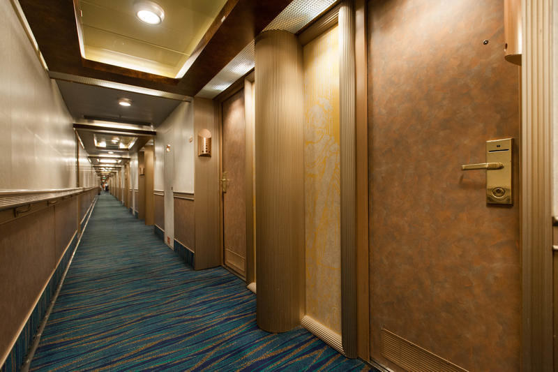Hallways on Carnival Conquest