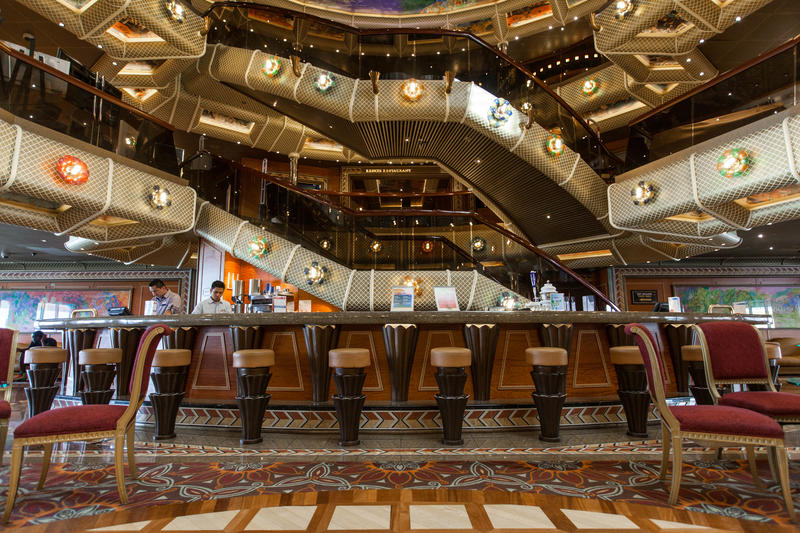 Atrium Bar on Carnival Conquest