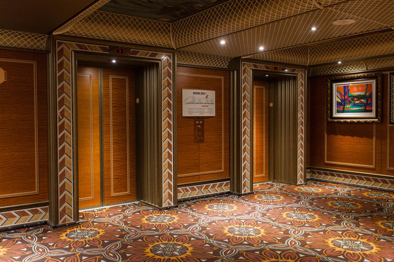 Elevators on Carnival Conquest