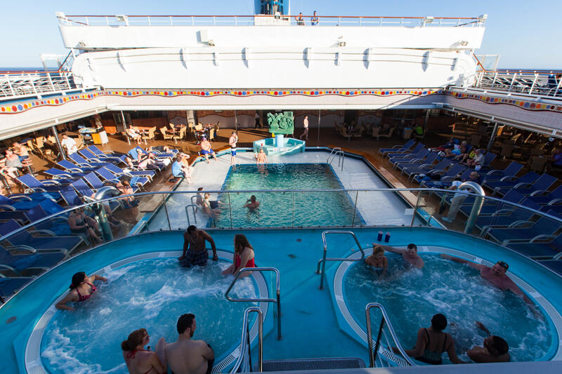 Pools On Carnival Conquest Cruise Ship