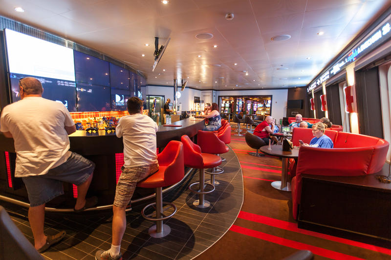The Sports Bar on Carnival Conquest