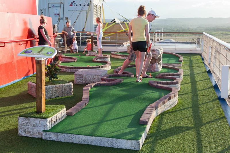 Mini Golf on Carnival Conquest