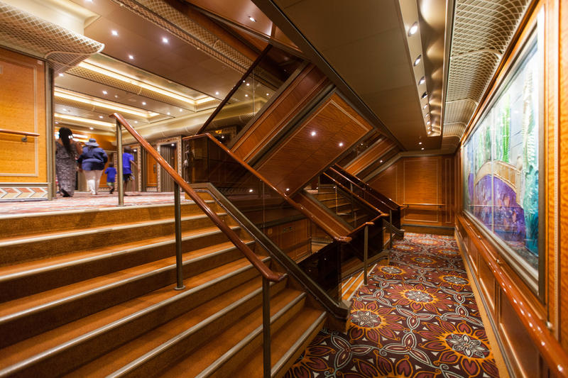 Stairs on Carnival Conquest