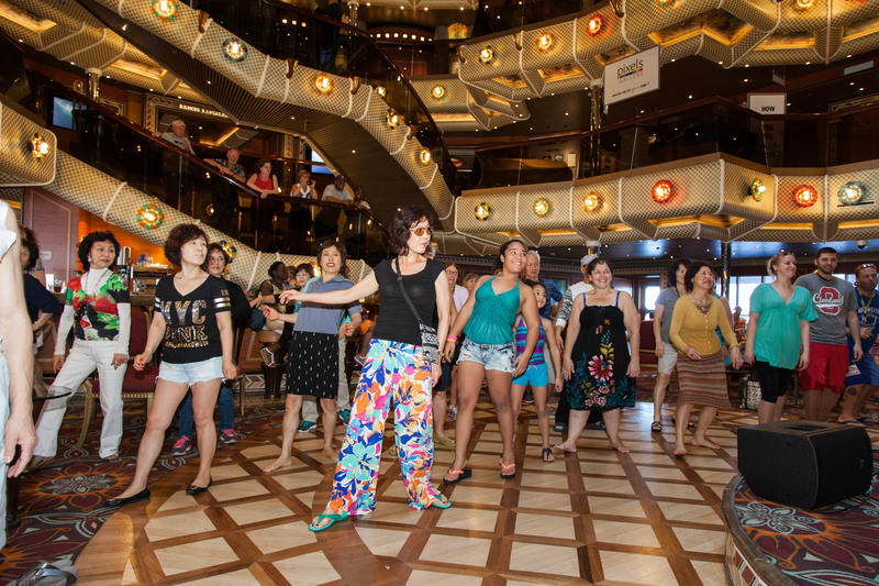 Single Ladies Dance Class on Carnival Conquest
