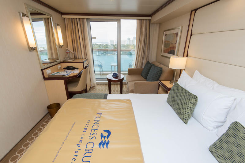 The Deluxe Balcony Cabin (DB) on Royal Princess