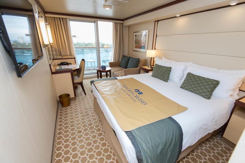 Deluxe Balcony Cabin On Royal Princess Cruise Ship