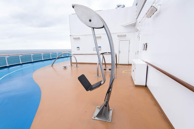 Deck Fitness Equipment on Royal Princess